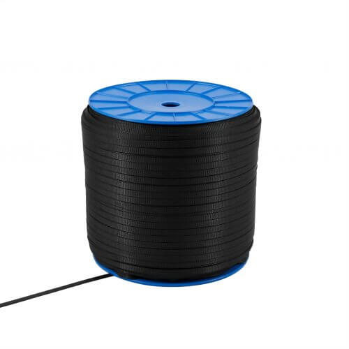 Polyester band 10 mm - 450 kg - op trommel - zwart MP