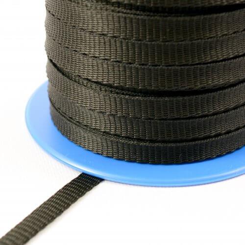 Polypropyleen band 10 mm - 200 kg - op trommel - zwart MB