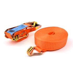sangle d'arrimage 5 tonnes 9 mètres avec crochets à griffes orange>