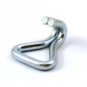Crochet à griffe double fermé en acier galvanisé - 50 mm>