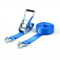 sangle d'arrimage 4 tonnes 9 mètres bleue avec crochets à griffes