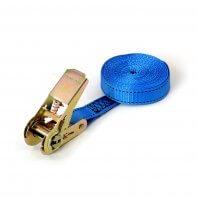 800kg - 4,5m - 25mm - en 1 pièce - tendeur à cliquet - Bleu