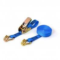 800kg - 4,8m - 25mm - en 2 pièces - crochets serrés - Bleu