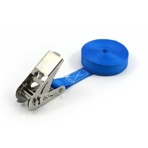 400kg - 25mm - en 1 pièce - tendeur à cliquet INOX + étiquette personnalisée